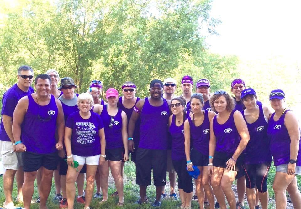 Novant Health Team at Dragon Boat Race