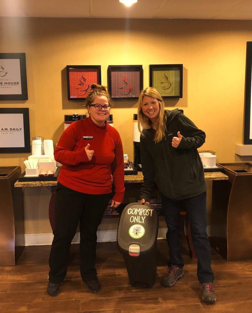 Food waste reduction initiative at the Hampton Inn of Salisbury.
