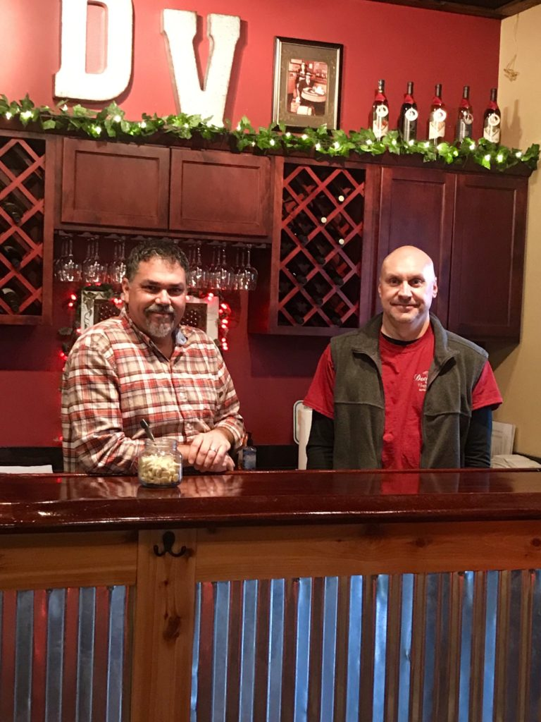 Doug Fink, the owner of Douglas Vineyards, and a life long friend, Todd Coe.