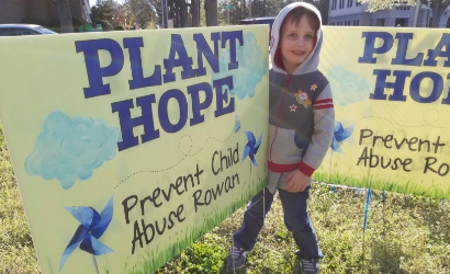 Plant Hope Pinwheel fundraiser for Child Abuse Prevention Month