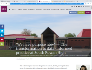 EducationNC Highlights South Rowan High