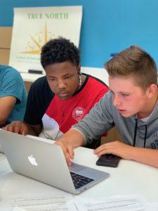 North Rowan High students learning computer skills