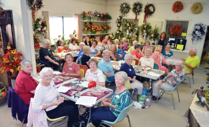 All women class at Piedmont Floral Galleries