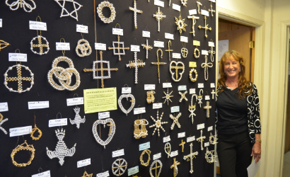 Christian symbols display at Piedmont Floral Galleries