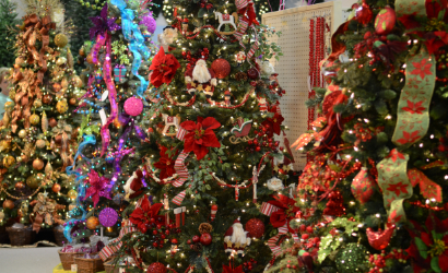 Gorgeous Christmas trees at Piedmont Floral Galleries