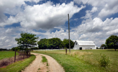 Blue skys and farm lands