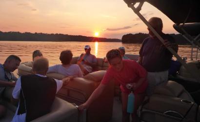 People Enjoying the High Rock Lake Bi-Monthly Floatilla