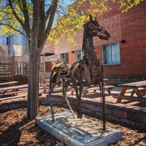Charleston Horse, Jonathan Bowling, Located at New Sarum Brewing Company