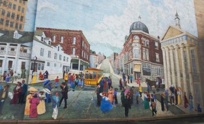 Crossroad: Past Into Present, mural, Cynvia Rankin, 1980