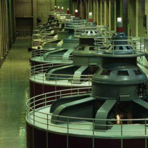 New aerating turbines at the Yadkin High Rock facility