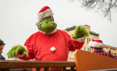 Everyone's favorite Holiday Cheermeister, the Grinch