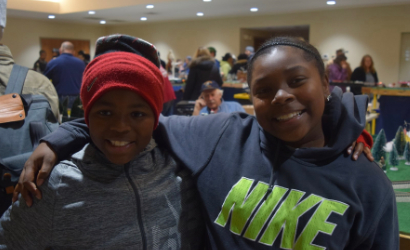 Young African American girls enjoying the festival