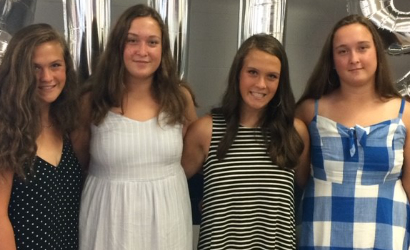 The Larson girls! From left to right: Abby, Zoe, Ella, and Hannah.