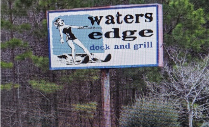 Water Edge dock and grill street sign