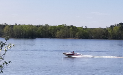 Boating on High Rock Lake
