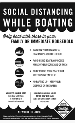 helpful chart to explain how to social distance when out boating
