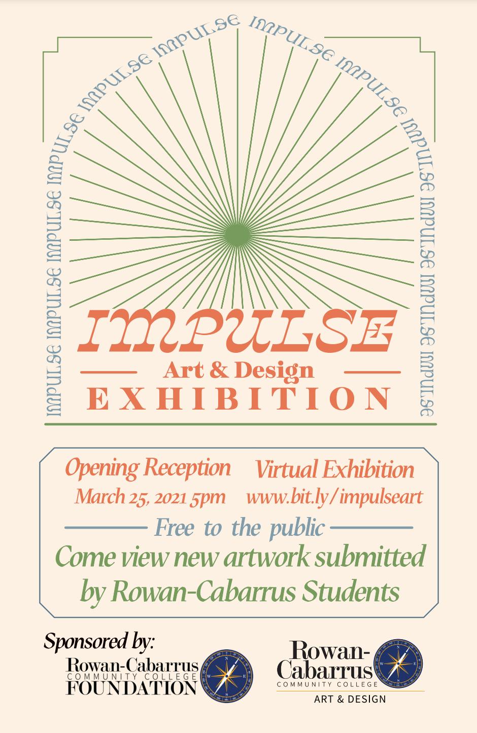 flyer for Impulse Art & Design Exhibition